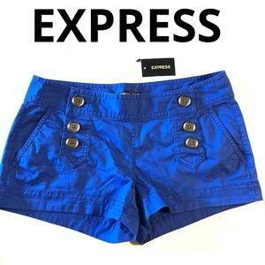 EXPRESS Shorts NWT royal blue size 2